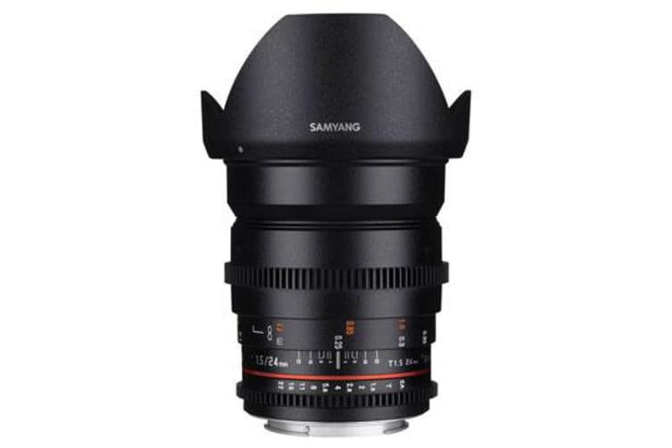New Samyang 24mm T1.5 ED AS UMC VDSLR II (Canon) (FREE DELIVERY + 1 YEAR AU WARRANTY)