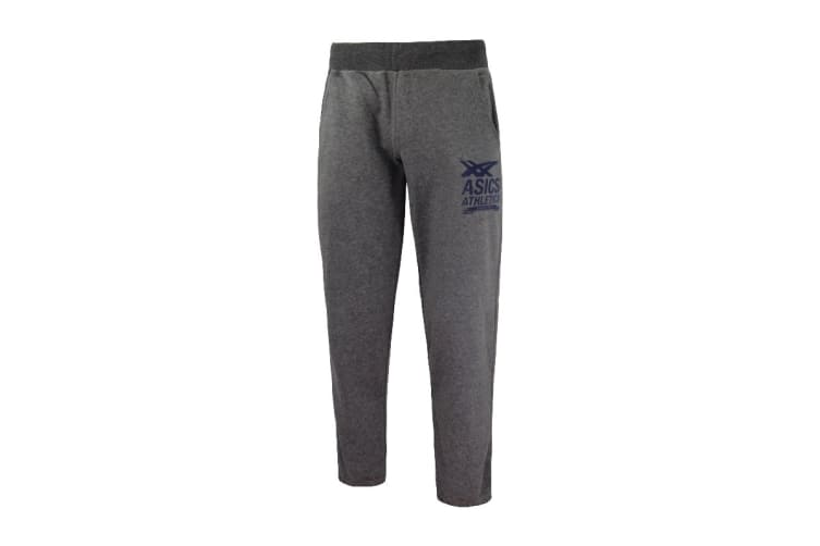 ASICS Men's Cuffed Knit Pants (Grey, Size M)