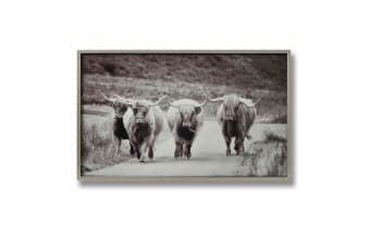 Hill Interiors Highland Cattle Wall Art Silver Picture Frame (Silver)