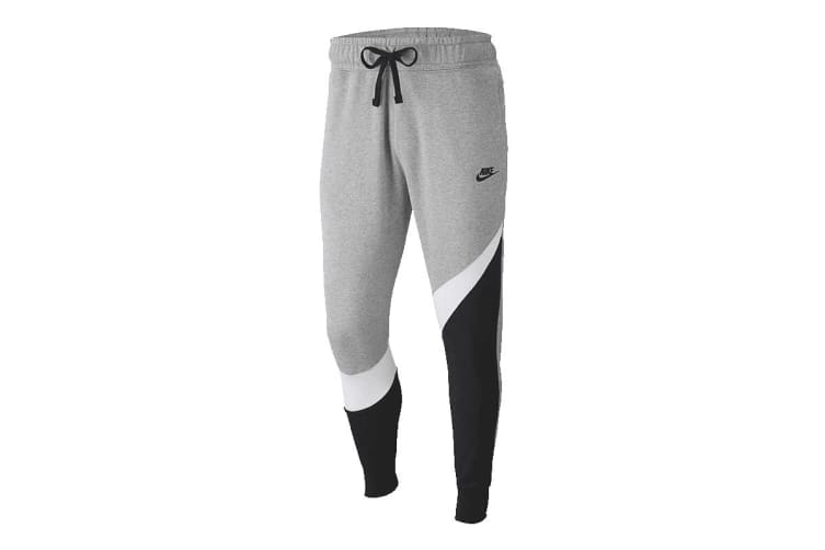 Nike Sportswear Men's Trousers (Dark Grey Heather/White/Black/Black, Size L)
