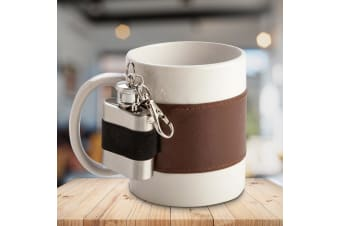 Extra Shot Flask Coffee Mug | Coffee Mug With 30ml Flask Attached!