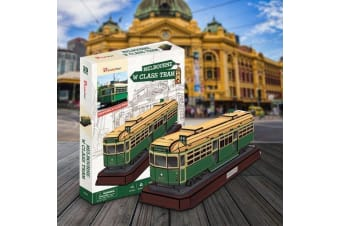 Melbourne W Class Tram 3D Model 73pcs