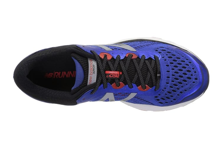 New Balance Men's 1260 v7 Running Shoe - 2E (Pacific/Black, Size 8.5)