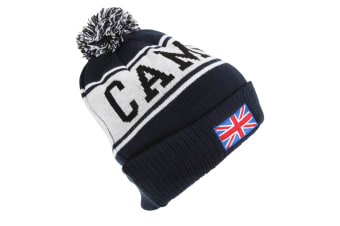 Devoted2style Adults Unisex Cambridge Winter Hat (Navy) (One Size)