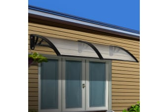 1mx2.4m DIY Window Door Awning Canopy Patio UV Outdoor Sun Shield