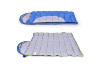 Thermal Envelope Sleeping Bag Winter -10C Single BLUE