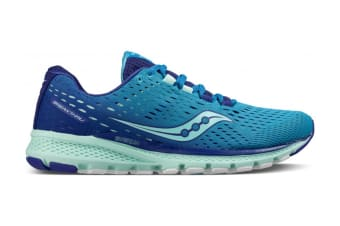 Saucony Women's Breakthrough 3 Running Shoe (Blue/Mint, Size 8)