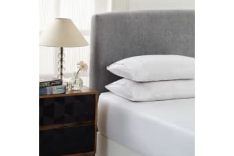 Royal Comfort Double 1500TC Markle Collection Cotton Blend Fitted Sheet Set - White
