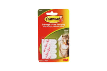 Command Poster Strips (Pack Of 12) (White) (One Size)