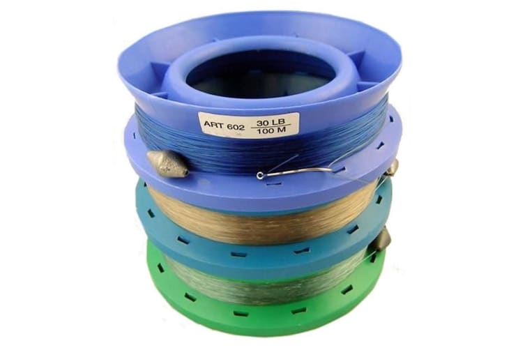 3 x 6 Inch Hand Caster Pre Rigged with 100m of 30lb Mono Fishing Line