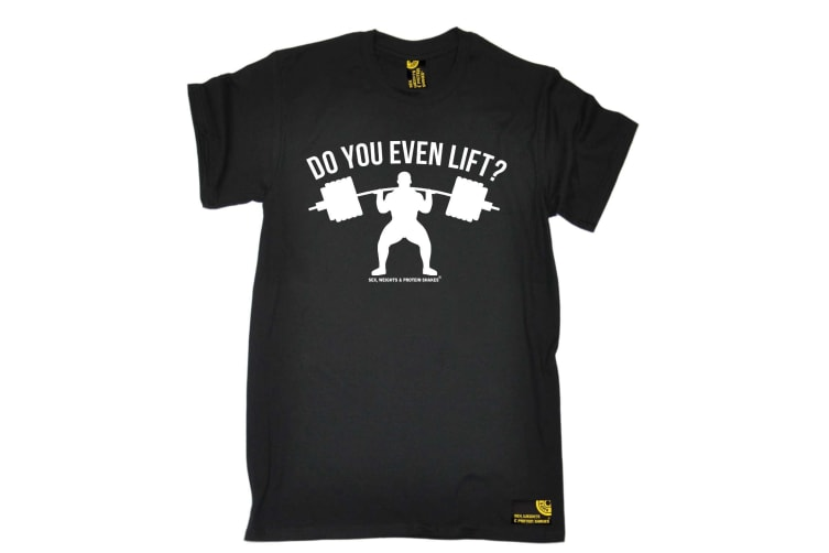 SWPS Gym Bodybuilding Tee - Do You Even Lift - (X-Large Black Mens T Shirt)
