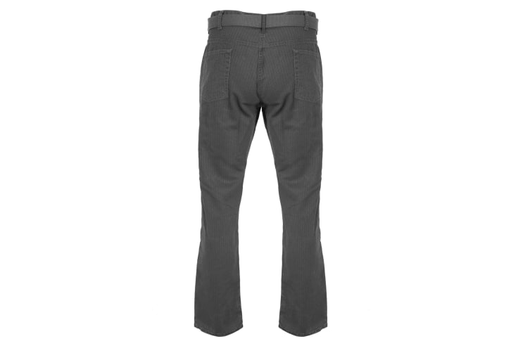 Duke London Mens Canary Bedford Cord Trousers With Belt (Charcoal) (32R)