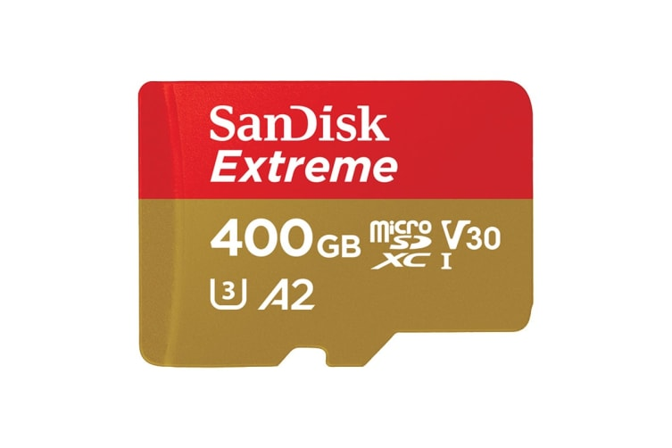 SanDisk 400GB Extreme microSDXC 160Mb/s  Class 10 UHS-I SD Card