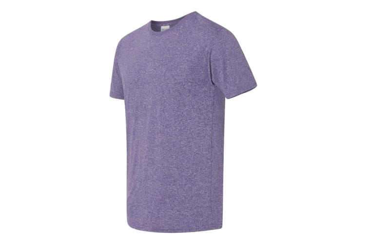 Gildan Mens Core Short Sleeve Moisture Wicking T-Shirt (Heather Sport Purple) (L)