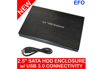 "2.5"" Portable Hdd Hard Disk Drive Enclosure Usb 3.0 Sata Metal Case Caddy Black"