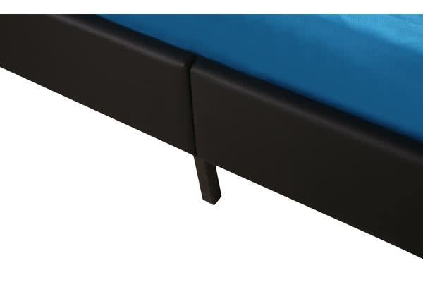 GAS LIFT STORAGE PU LEATHER BED FRAME BLACK KING