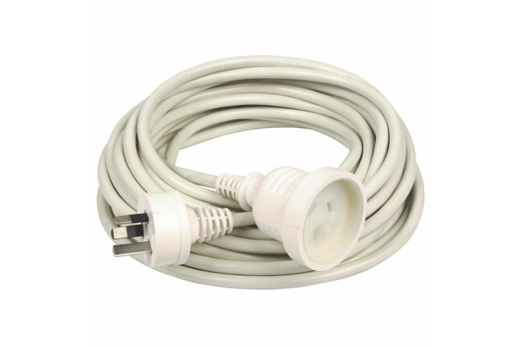4PK Kensington 3m AU/NZ 240 Power Extension Cord - White