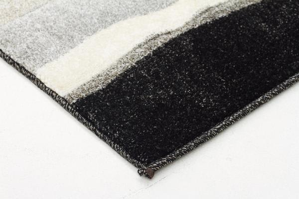 Modern Thick Wave Rug Carcoal 400x80cm