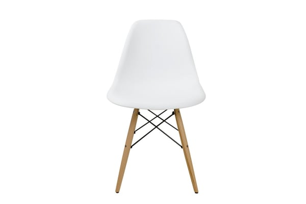 Ovela Set of 4 Eiffel DSW Dining Chairs - Eames Replica (White)