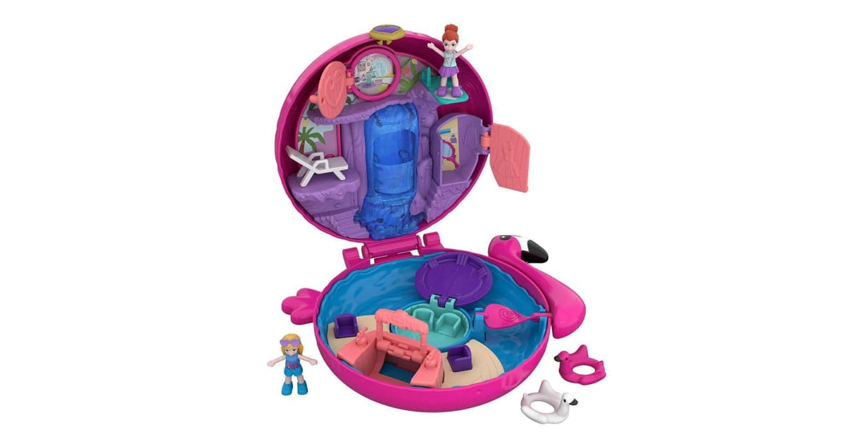 Polly Pocket Big Pocket World Flamingo Floatie | Playsets |