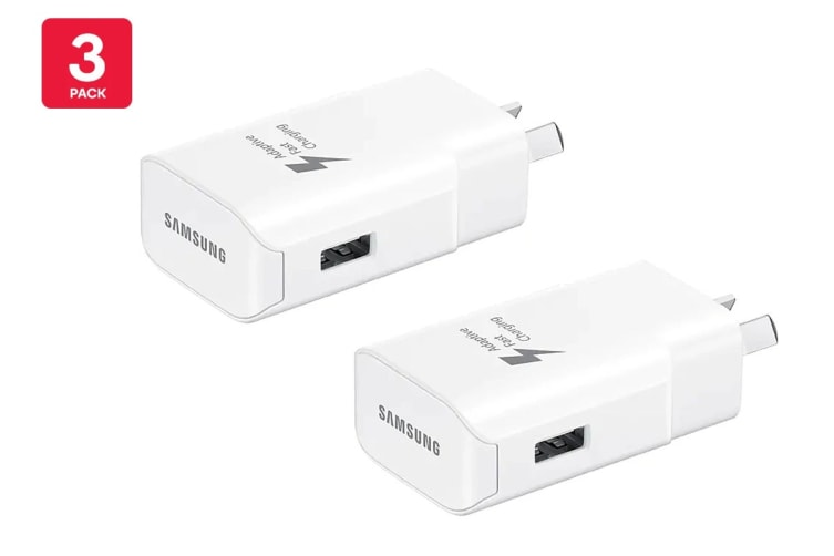 Samsung USB Fast Charging Travel Adapter (12V/25W, White) - 3 Pack