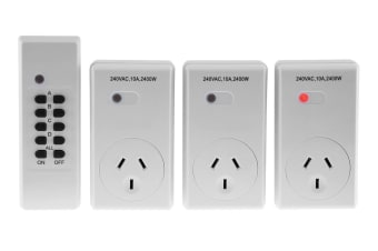 Powertran Remote Control Mains Operated Switch 3 Pack 1 RF 3 outlets Powerboard