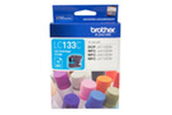 Brother LC-133CCyan Ink 600pages,MFC-J4410DW,J4510D