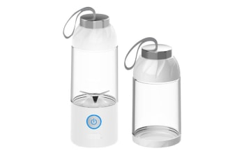Select Mall Multi-function 550mL USB Electric Fruit Juicer Smoothie Maker Blender Juice Bottle Cup Machine-WHITE