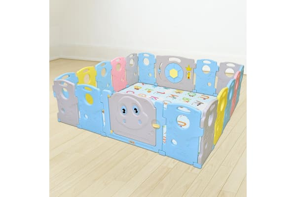 Abst 18 Sided Panel Baby Playpen Interactive Kids Safety Gates Child