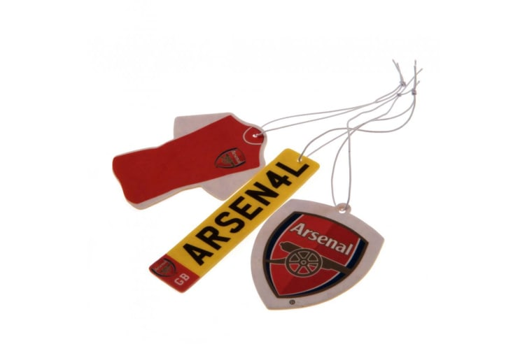 Arsenal FC Air Fresheners (Pack Of 3) (Red) (One Size)