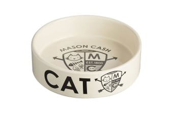 Mason Cash Coat Of Arms 14cm Cat Bowl Food Travel Portable Feeding Drinking