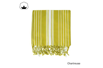 Eyas Cotton Turkish Towel Chartreuse by J Elliot Home