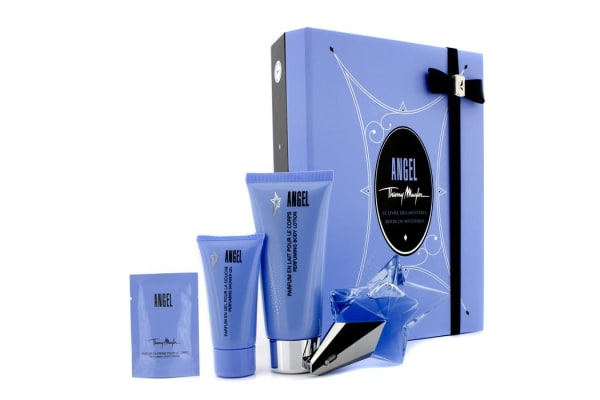 Thierry Mugler Angel Coffret: Eau de Parfum 25ml/0.8oz + Body Lotion 100ml/3.5oz + Shower Gel 30ml/1oz + Body Cream 10ml/0.34oz (4pcs)