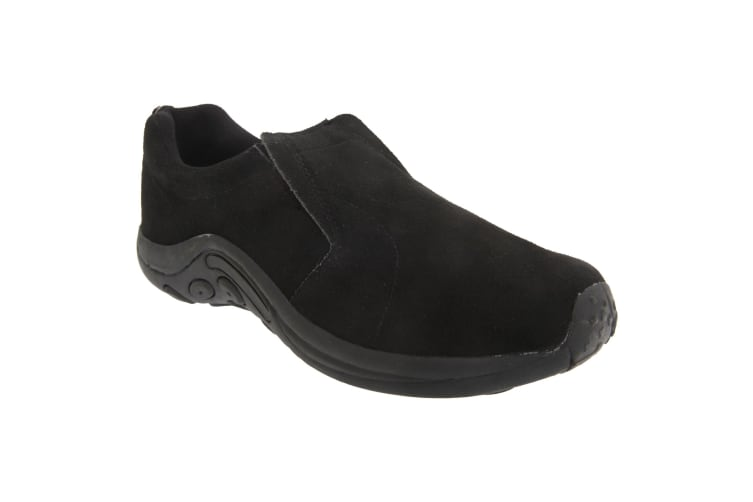 PDQ Adults Unisex Real Suede Ryno Slip-On Casual Trainers (Black) (13 UK)