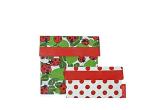 Sachi Lunch Pockets Set of 2 Lady Bug