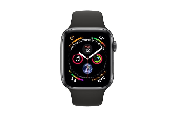 Apple Watch Series 4 (Space Grey, 40mm, Black Sport Band, GPS Only)
