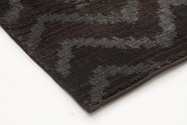 Morrocan Chevron Design Rug Brown Grey 330x240cm