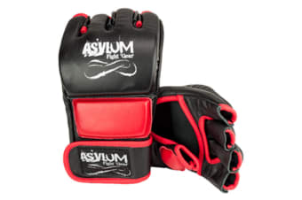 Asylum Large MMA Glove Fitness/Fighter/Boxing Equipment/Fight/Training Gear Red