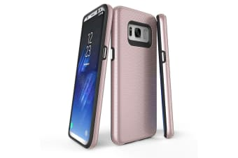 For Samsung Galaxy S8 Case  Rose Gold Armour Protective Slim Phone Cover
