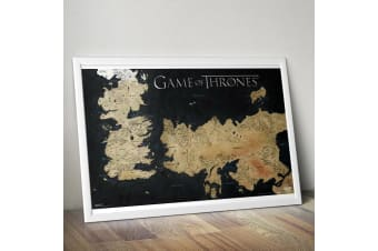 Game of Thrones Westeros Map Wall Poster 61 x 91cm – House Wall Lannister Snow