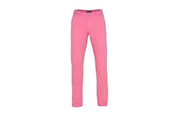 Asquith & Fox Mens Classic Casual Chinos/Trousers (Pink Carnation) (3XLU)