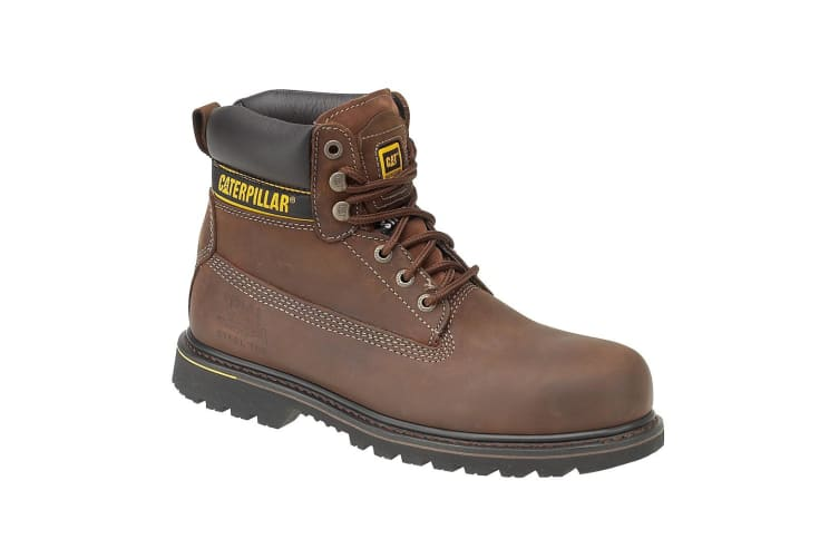 Caterpillar Holton S3 Safety Boot / Mens Boots / Boots Safety (Brown) (6 UK)