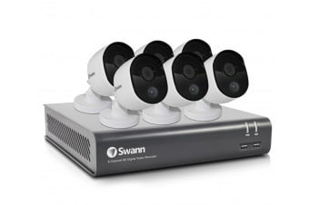 Swann 8 Channel 1080p 1TB DVR with 6 x PRO-1080MSB Thermal Motion Sensing HD Cameras (SWDVK-845806)