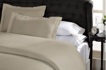 Royal Comfort 1500TC Cotton Blend Quilt Cover Set (King, Stone)