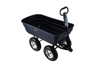 2 in 1 Large Poly Garden Dump Cart with 280kg Capacity
