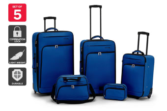 Orbis 5 Piece Ultimate Luggage Set (Blue)