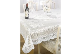 The Fine Dining Classics Collection By Emma Barclay Chantal Lace Tablecloth (5 Sizes) (White)