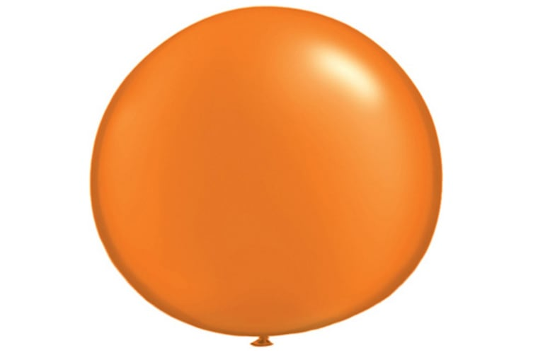Qualatex 5 Inch Plain Latex Party Balloons (Pack Of 100) (48 Colours) (Pearl Mandarin) (One Size)