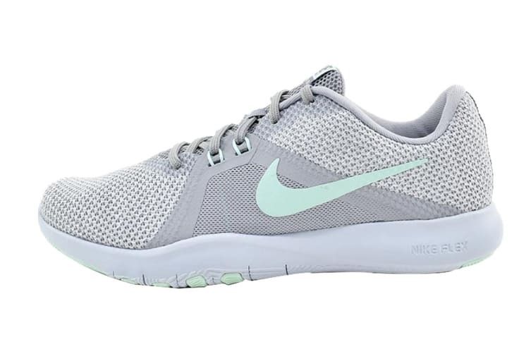 Nike Women's Flex Trainer 8 (Grey/White, Size 6 US)