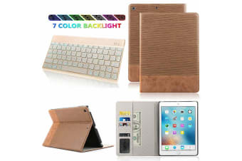 For iPad Pro 12.9 Inch 2018 PU Leather Case Cover For iPad Pro-Light Brown